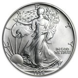 1986 1 oz Silver American Eagle BU in Fort Polk, Louisiana