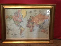 Framed map in Kingwood, Texas