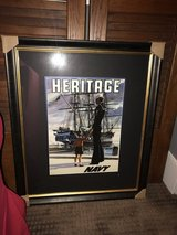 Framed repro vintage US Navy poster in Kingwood, Texas