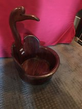 Red lacquer Chinese container solid wood in Kingwood, Texas