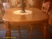 oak table and 4 chairs in San Diego, California