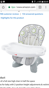 Fisher-price space saver high chair in Ramstein, Germany