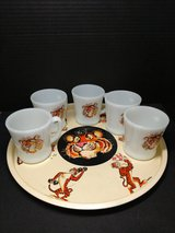 Vintage Fire King Exxon Tiger Cups and Tray in Quantico, Virginia