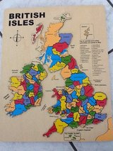 British Isles Wooden Puzzle in Ramstein, Germany