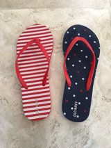 Girls Old Navy 4th of July Flip  Flops (Red, White & Blue) Size 5-6 in Chicago, Illinois