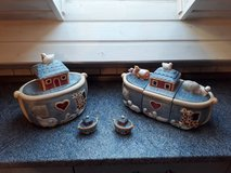 Very Collectible - Ceramic Noah's Ark Cookie Jar and Canister Set by Susan Winget in Grafenwoehr, GE
