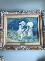 "GORGEOUS Framed Painting of Ladies & young girl in flower field; Impressionistic; called ""The Bu... in Kingwood, Texas"