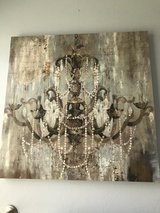 Large Canvas Painting of a Chandelier!  Paris, soft understated glamour in Kingwood, Texas