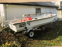 Boat and trailer - Carolina skiff in Shorewood, Illinois