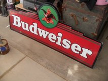 ###  Metal Budweiser Sign  ### in Yucca Valley, California
