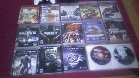 PS3 with 2 controllers and 16 games all like new. in DeRidder, Louisiana