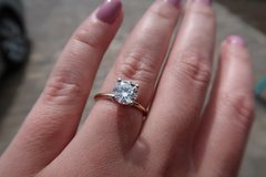 Tiffany solitaire diamond engagement ring 1.25 carats in Macon, Georgia