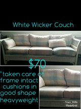 white wicker couch in Pleasant View, Tennessee