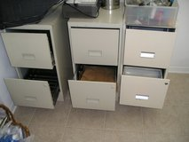 2 - TWO DRAWER METAL FILE CABINETS )2 for $10) in Chicago, Illinois