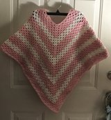 GIRL PONCHO  - Crocheted Handmade in Warner Robins, Georgia