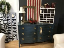 Blue buffet dresser entertainment center serpentine front in Fort Leonard Wood, Missouri