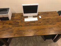 """Crate & Barrel Basque (Honey) 82"""" Dining Table in Plainfield, Illinois"""