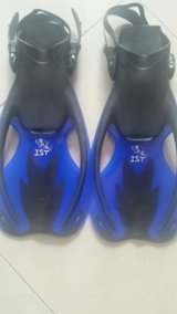IST FK09 Swift Adjustable Kids Open Heel Fins for Diving and Snorkeling in Okinawa, Japan