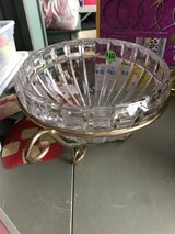 Glass Bowl with Gold Stand in Yorkville, Illinois