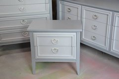 "bedroom set  gray""s solid wood dovetail drawers GREAT SET in Morris, Illinois"