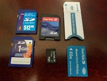 Three SD memory cards and one Memory Stick Pro Duo Card in Camp Lejeune, North Carolina