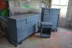 Bedroom set  Blue 's  solid wood . Built like a tank in Morris, Illinois