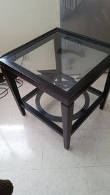 Metal and glass end table in Okinawa, Japan