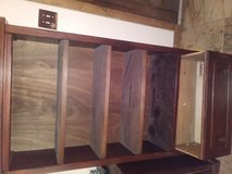 Brazillian wood tv stand and watnot shelf in Kingwood, Texas