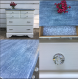 White 3 drawer dresser cabinet chest bedside table in Naperville, Illinois