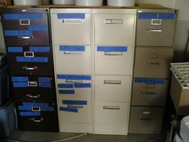 4 - FOUR DRAWER METAL FILING CABINETS in Sugar Grove, Illinois