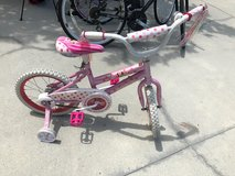 Girl Minnie Mouse Bike w/training wheels in Cherry Point, North Carolina