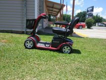 Pride Mobility - Victory 10 - Full-Sized Scooter - 4-Wheel - Red - PHILLIPS POWER PACKAGE in Leesville, Louisiana