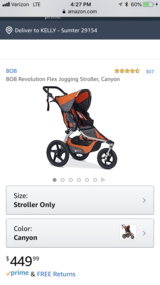 Bob revolution flex jogging stroller in Fort Jackson, South Carolina