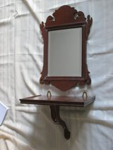 3-pc mahogany mirror + shelf + brace in Westmont, Illinois