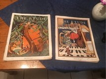 two copies of The Etude Musical magazine 1928 in Fort Leonard Wood, Missouri