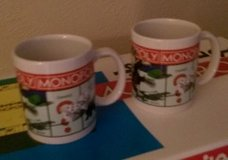 Monopoly Coffee Cups (2) in Kingwood, Texas