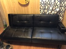 Black leather futon in Alamogordo, New Mexico