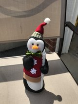 Penguin Holiday Decoration in Yorkville, Illinois