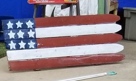Pallet wood flag in Fort Benning, Georgia