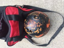Bowling bag and ball in Fort Lewis, Washington