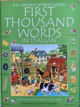 First Thousand Words in Italian book for children in Ramstein, Germany