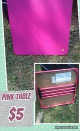 pink kids table in Fort Campbell, Kentucky