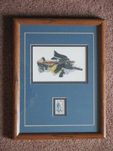 Framed Police Lithograph + Stamp in Lockport, Illinois