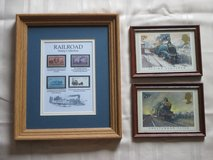 Framed Railroad Theme Stamp Collection - 3 pcs in Lockport, Illinois