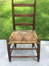 Antique handmade cowhide chair in Beaufort, South Carolina