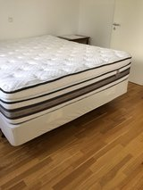 Cal King mattress, box spring, and frame in Wiesbaden, GE