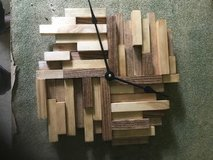 Hand Made and Individually Pieced Wood Clock in Bartlett, Illinois