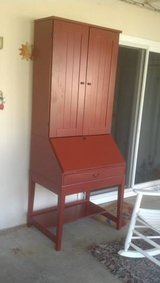 Wonderful IKEA Secretary Desk, Barn Red Color in Camp Pendleton, California