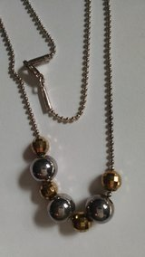 "Silver 925 Milor Italy 18"" Ball Bead Necklace with Disco Beads in Lawton, Oklahoma"