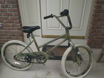 Kid's bike - repainted camouflage in St. Charles, Illinois